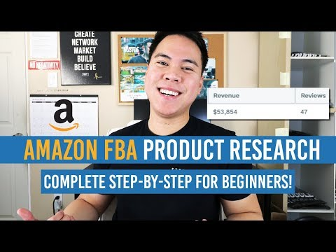 Amazon FBA PRODUCT RESEARCH For COMPLETE BEGINNERS! STEP BY STEP!