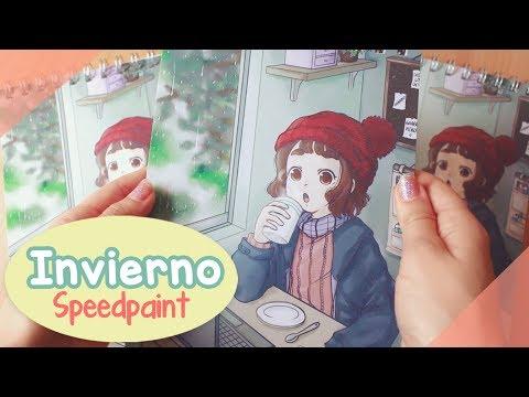INVIERNO 🌧   Así dibujé mi nuevo producto 💙 Speedpaint