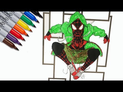 Repeat Spider Man Miles Morales Black Spider Coloring Pages