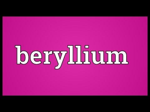 Beryllium Meaning
