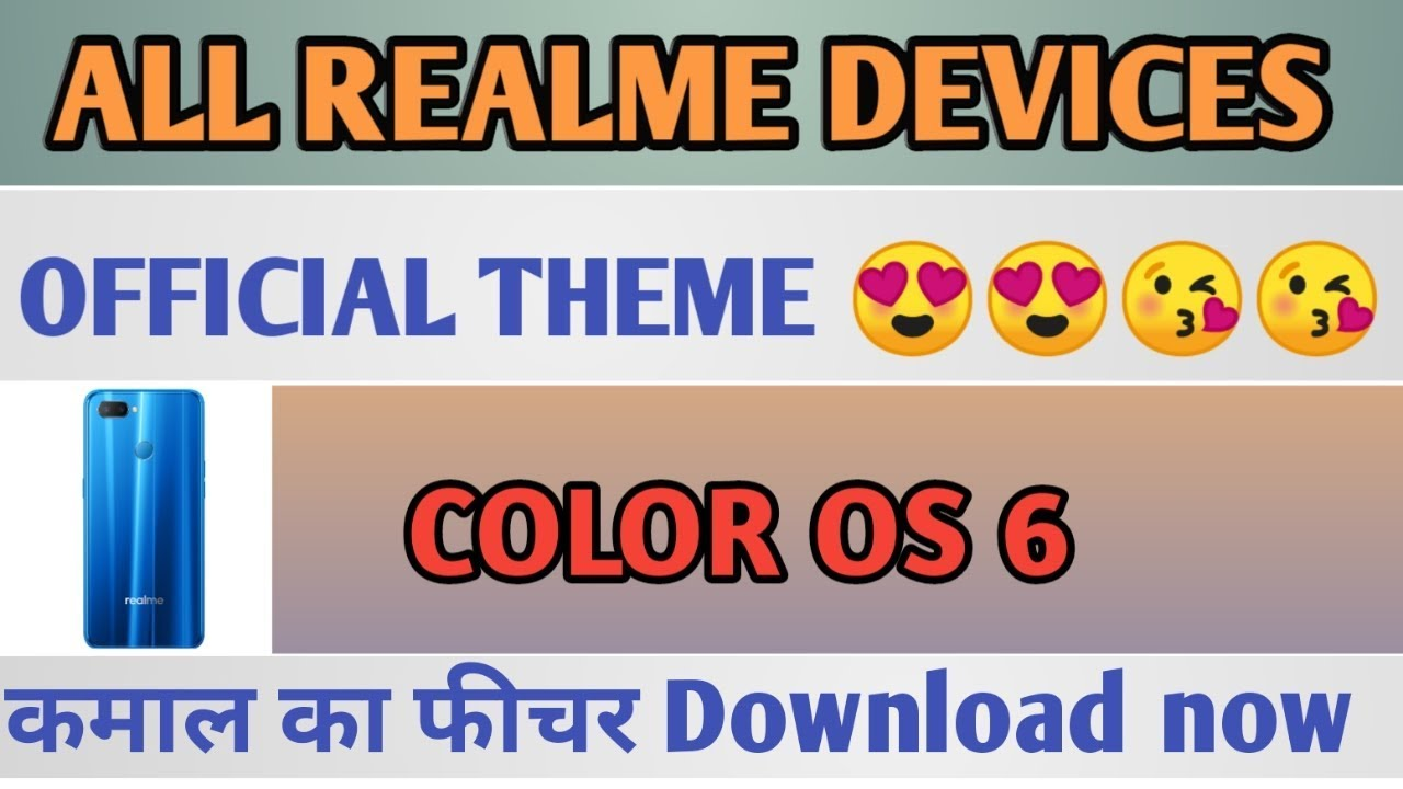 Realme theme for all realme devices with color os 6 features in the realme  all smartphone