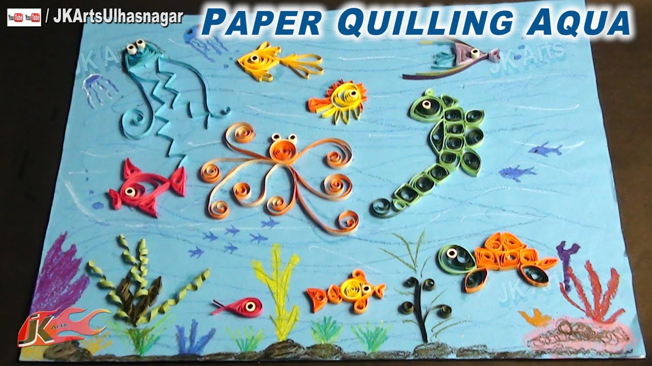 Papercraft DIY Paper Quilling Aqua | How to make Under the Sea Creature | JK Arts 651