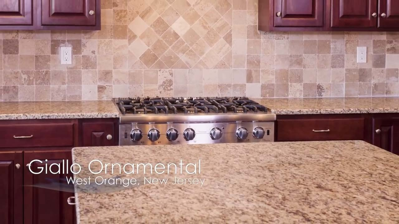 Giallo Ornamental Granite Countertops I Design Concepts Youtube