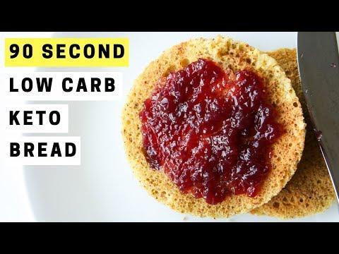 90 SECOND Low Carb Keto Bread Recipe
