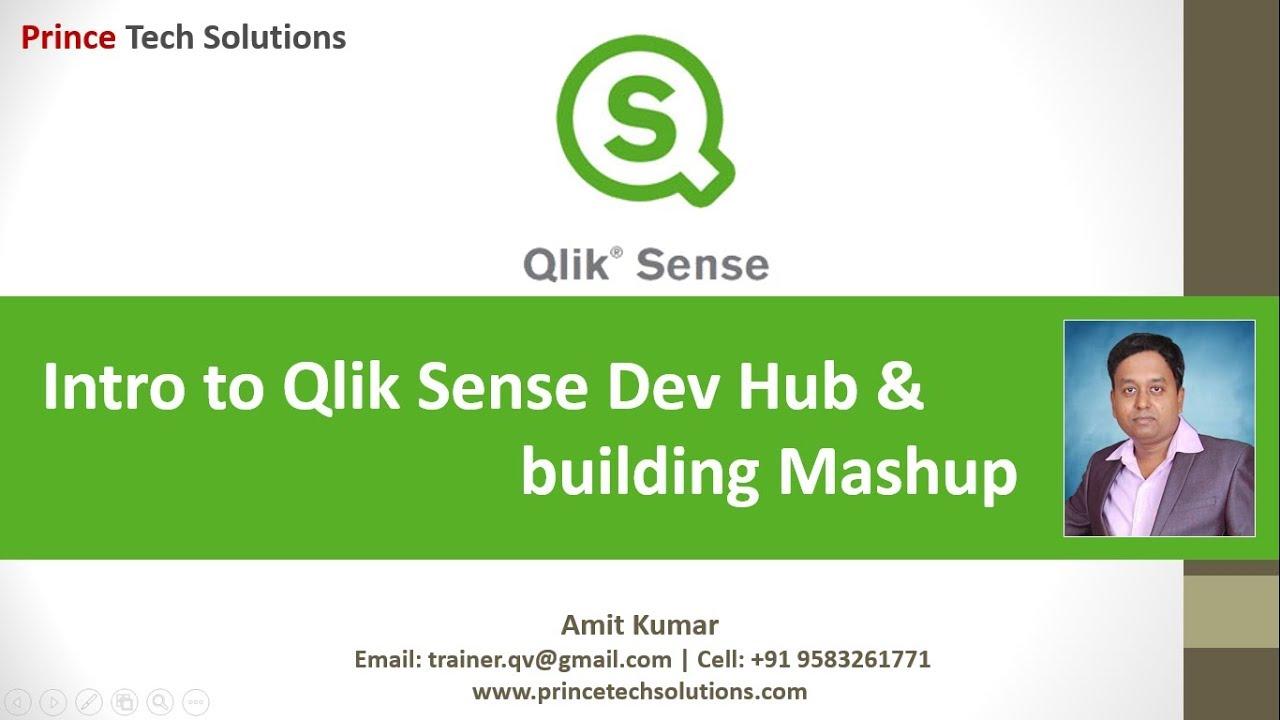 Qlik Sense Tutorial | Getting started Qlik Sense Hub and build Mashup