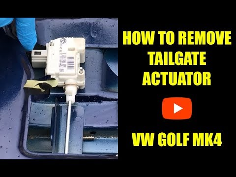 How to remove the tailgate actuator (electric lock servo motor) VW Golf Mk4