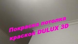 Покраска потолка в квартире(Краска DULUX 3D WHITE. Раскатка краски велюровым валиком. Покраска багет. Очередность покраски. Мой сайт: http://rem-kwar..., 2015-10-10T20:12:53.000Z)