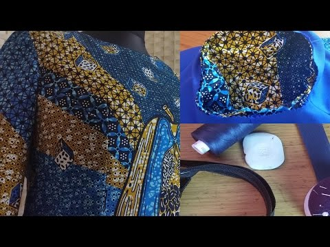 African dress DIY with sleeve made with Real Supreme Wax