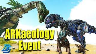 ARKaeology Event, TEK REX, Brachiosaurus, Stygimoloch ,Styracosaurus Skin - Ark Survival Evolved