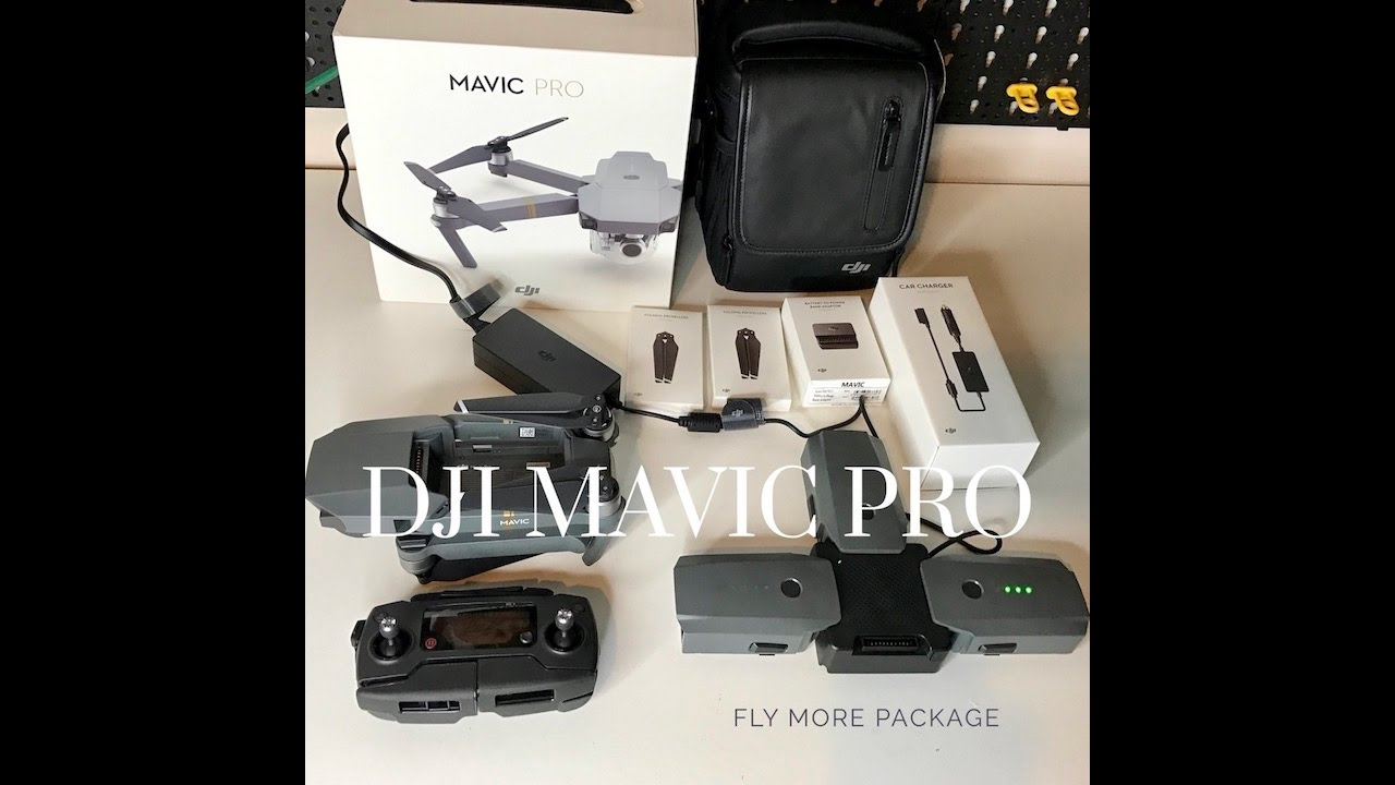 dji mavic pro fly more combo unboxing first look youtube. Black Bedroom Furniture Sets. Home Design Ideas