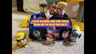 Top wing video! Paw Patrol toys and Top Wing toys team up to save chickaletta!