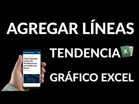 ¿Cómo Agregar Líneas de Tendencia en un Gráfico de Excel?