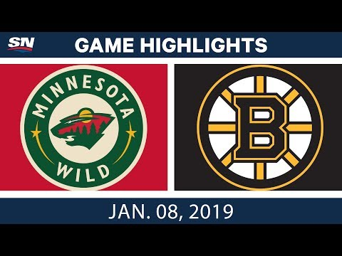 NHL Highlights | Wild vs. Bruins - Jan. 8, 2019