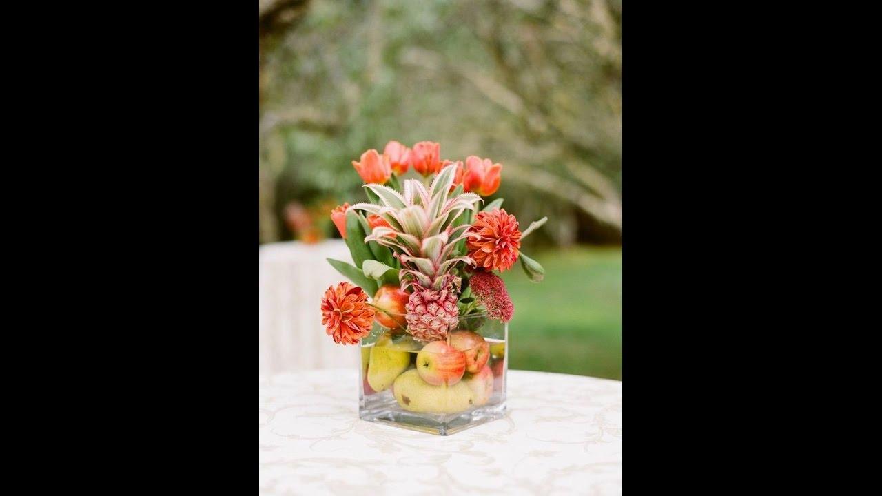 Como Hacer Centros De Mesa Con Flores Y Frutas