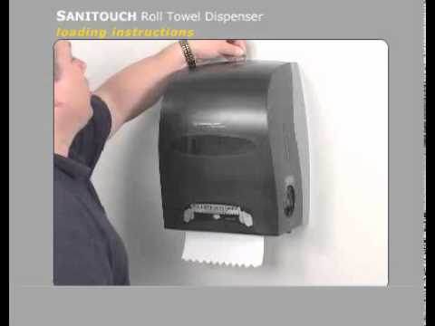 SANITOUCH Manual Touchless Roll Towel Dispenser    Loading   YouTube