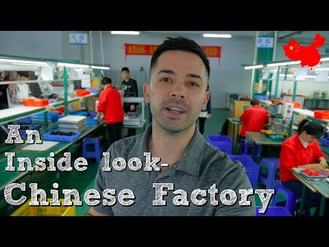 Inside a Chinese Factory! [ Touring Otravel in Shenzhen China ]