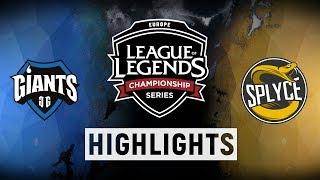 GIA vs. SPY - EU LCS Week 9 Day 2 Match Highlights (Spring 2018)