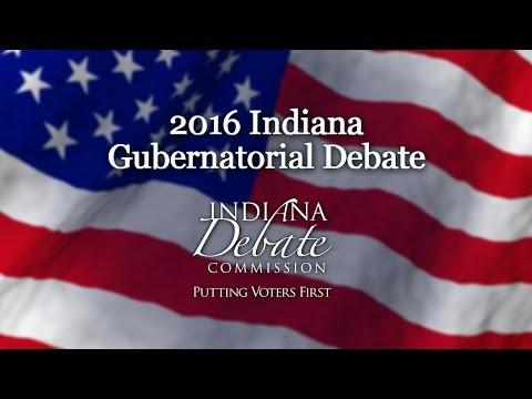 Indiana Gubernatorial Debate October 3rd 2016 7:00pm