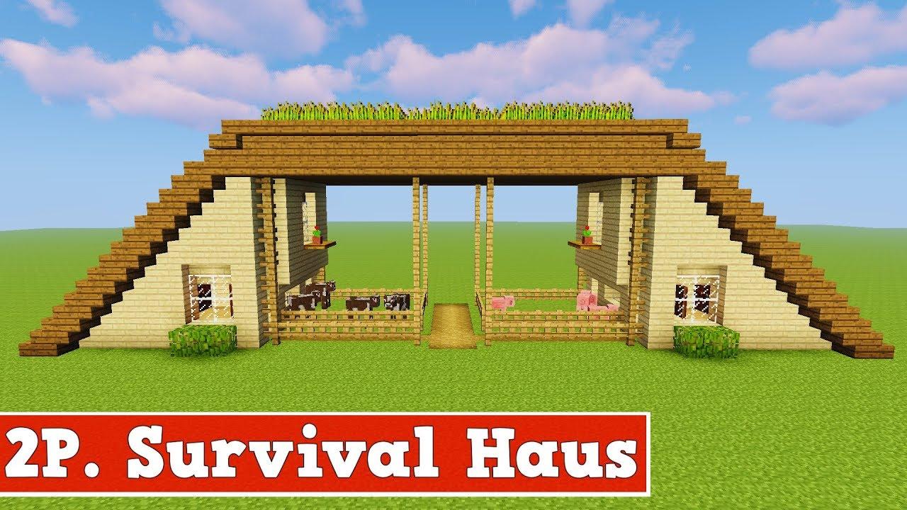 wie baut man ein 2 spieler survival haus in minecraft. Black Bedroom Furniture Sets. Home Design Ideas