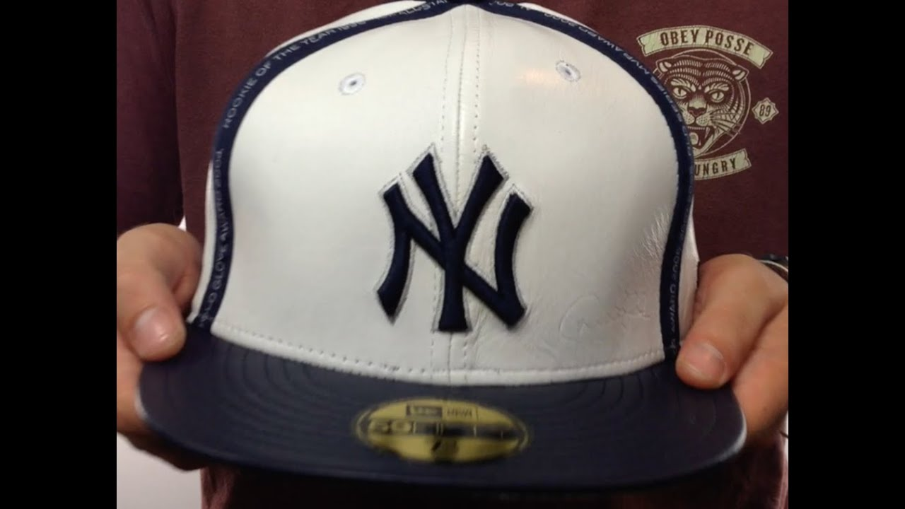 a24e48892 Yankees  JETER CAREER LEATHER  White-Navy Hat by New Era - YouTube