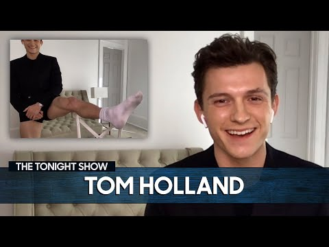 Tom Holland Shows Off His Viral Pants-less Video for Virtual Interviews | The Tonight Show