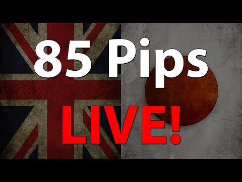 Volatile LIVE Trade On The GBP/JPY 5-minute Chart