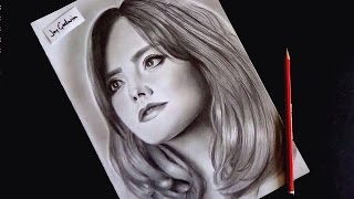 Drawing Jenna Louise Coleman (Clara Oswald) Speed Drawing -Doctor Who
