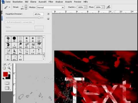 how to add blood to text in photoshop