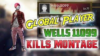 Global Player Wells11099 Kill Montage || Season 11 || Tamil Player || GrandMaster || Heroic