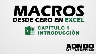 macros excel cap 1 introducción para que sirve nuestra primera macro adndc adanjp