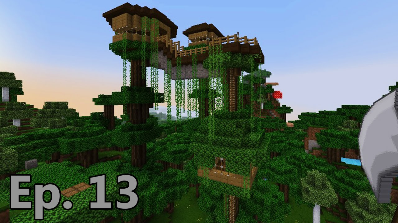 Lets Play Minecraft Survival Ep 13 Roofed Forest