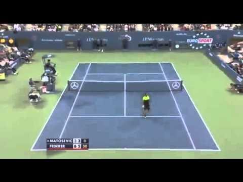 Roger Federer incredible Tweener - Matosevic vs Federer HD US Open