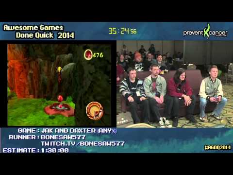 Jak and Daxter: The Precursor Legacy :: SPEED RUN (1:17:06) by Bonesaw577 #AGDQ 2014
