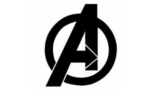 How to Draw Avengers Logo   Marvel   Let's Draw!