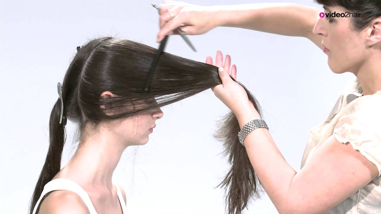 Haarschnitt fr sehr langes gestuftes Haar  LONGlayered