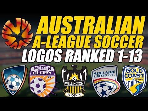 Australian A-League Soccer Logos Ranked 1-13