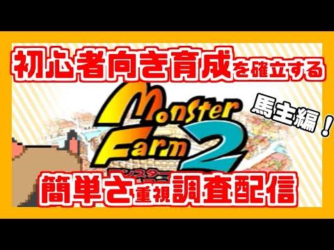 【モンスターファーム2】初心者向け育成調査!【ハメッド馬主理論編その3】