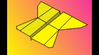 How to Fold the Looping Sloop Paper Airplane Instructions Video