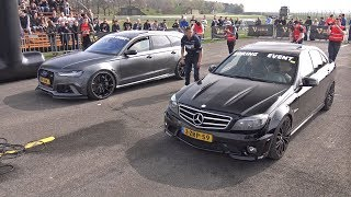 Mercedes-Benz C63 AMG w/ iPE Exhaust vs Audi RS6 Avant C7 ABT