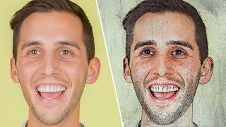 Artistic Sketch on a Canvas Photo Effect - Photoshop Tutorial