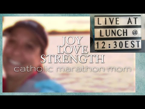 Live at Lunch || Lent || Big Meatless Meal Collab coming soon || Whole Catholic Living channel