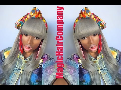 MagicHairCompany Custom Full Lace Wig Review | Grey 80's Barbie - Malibu Dollface  - hPAtdflSvuc -