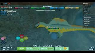 Roblox: Dinosaurier-Simulator | mosasaurus Gameplay #2 (junge Erwachsene bis Erwachsene)