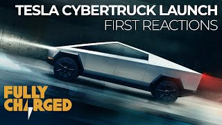 Tesla Cybertruck Launch: audience first reactions | Fully Charged