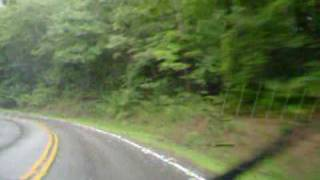 rainy drive in Cherokee National Forest