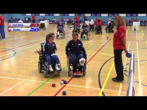 2015 Boccia Europeans - BC4 Pairs - GB v Slovakia