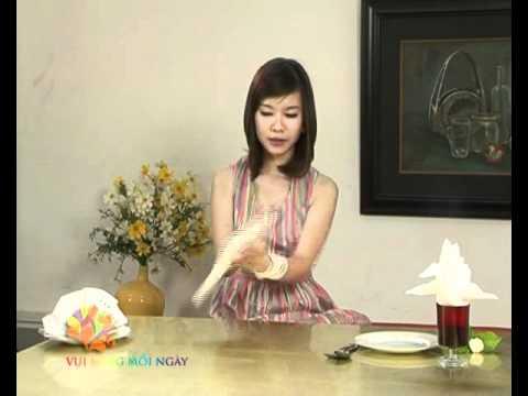 [Kỹ Năng] Trang trí bàn tiệc với khăn ăn