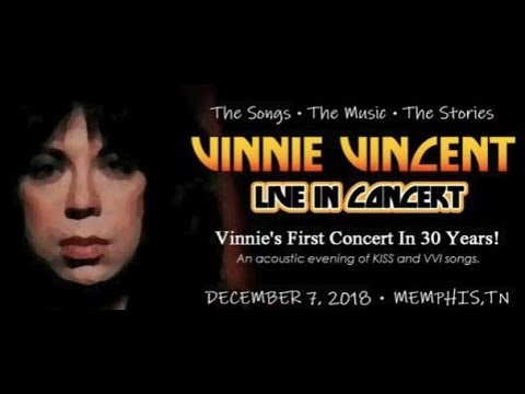 Former KISS guitarist Vinnie Vincent to play 1st live show in almost 30 years!