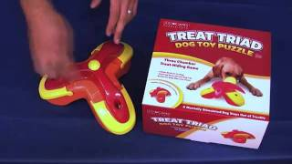 Kyjen Treat Triad Dog Puzzle - www.ActiveDogToys.com thumbnail