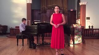 Zarah Brock, soprano sings Prendi, per me sei libero by Donizetti